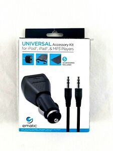Ematic 5-In-1 Universal Accessory Kit for iPod iPad and MP3 Players EA315