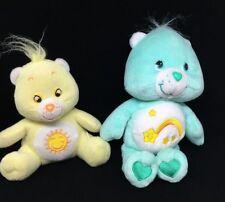 "Care Bear Baby 2002 Wish 8"" Beanie +  Sunshine Funshine Plush Stuffed Animal"