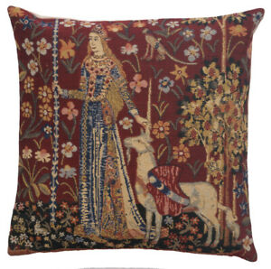 Lady and Unicorn Touch Belgian Medieval Tapestry Cushion Pillow Covers (New)