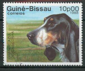 Great Gascony Blue  dog Guinea Bissau 1988  stamp A175