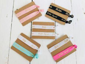 Bride Squad Hen Do / Hen Party Elastic Wristband / Bracelet / Hair Elastic