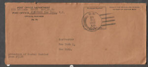 Feb 1946 post WWII cover US Navy frigate USS Abilene PF-58 to Postmaster NY