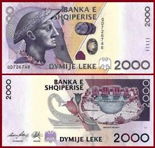 ALBANIA 2012 - 2000 LEKE - Banknote - Uncirculate​d UNC - Current in Circulation