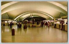 Postcard St. Louis Municipal Airport Terminal Lobby Lambert Field