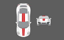 Porsche 911 (991) Bonnet & Roof Double Centre Stripe Decal Graphic Sticker Set
