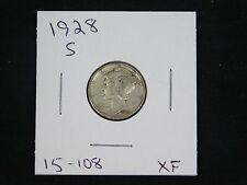 1928-S Mercury Dime  XF  (15-108)