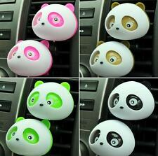 2PCS Cute  Panda Car Vehicle Perfume Air Freshener Auto Detailing Accessories