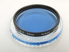 Nikon Filter B12 blau 52mm Einschraubgewinde 52mm screw  TOP mit with Case Dose