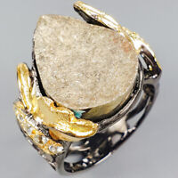 Jewelry Unique Set Natural Pyrite 925 Sterling Silver Ring Size 8/R118939