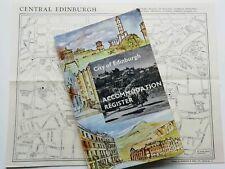 vintage 1963 Edinburgh accommodation register + map