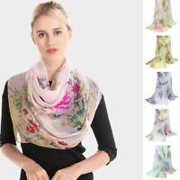 Sciarpa floreale da donna Sunscreen Shawl Piccola sciarpa sciarpa moda sciarpa