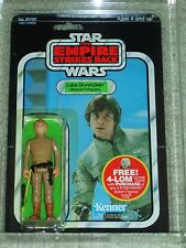 Vintage Star Wars 1980 AFA 80 LUKE SKYWALKER BESPIN BROWN HAIR ESB Back card MOC