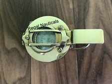 3'' Military British Prismatic Compass Antique Solid Brass Shiny Polish Finish