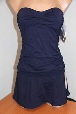 NWT Anne Cole Swimsuit Bikini Tankini 2 pc set Sz XS Bandeau Skirt Strap