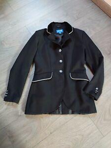 ELT Jacket - Turnierjacket - Sakko Gr. 152 / schwarz - Samt Kragen