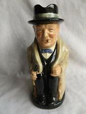 Large Vintage Royal Doulton Winston Churchill Toby Mug Pitcher 9� Mint Condition