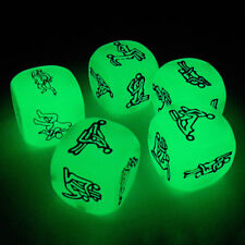 6Sides Cube Lover's Dice Adult Sex Games Glowing Luminous Bachelor Party Humour