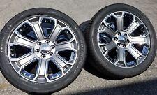 "GMC Denali 22"" Wheels 2015 Rims Tires Yukon Sierra Chevy Hyper Blk Tahoe CK190"