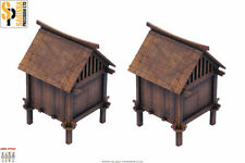 Japan RICE STORE SET SAMURAI/ JAPANESE 28mm Laser cut MDF scale Building B015