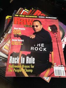 WWF WWE RAW Magazine MARCH 2001 The Rock + Tori Poster
