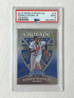 RONALD ACUNA JR 2018 Panini Crusade ROOKIE RC #18! PSA MINT 9! BRAVES! INVEST!