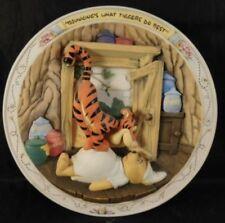 "Disney Winnie The Pooh Bradford 3D Plate ""Bouncings What Tiggers do best"" 1995"