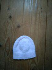 New hand knitted pink rainbow spot baby beanie hat newborn