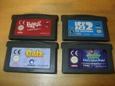 GBA Games -Catz-Bratz Rock Angelz-Ice Age 2-Spongebob Squarepants   *FREE P&P*