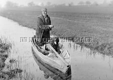 ANTIQUE REPRODUCTION HUGE PUNT GUN DUCK GOOSE HUNTING BOAT 8X10 PHOTOGRAPH 6