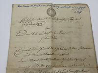ANTIKES SCHREIBEN / URKUNDE / MANUSKRIPT AUS DEM JAHR 1853 TINTE AUF PAPIER