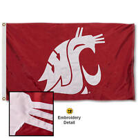 Washington State University Embroidered and Appliqued Nylon Flag