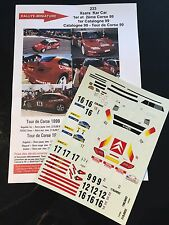 DECALS 1/24 CITROEN XSARA KIT CAR DOENLEN RALLYE TOUR DE CORSE 1998 RALLY WRC