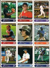 JUST MINORS 2002 MLB STARS 9 CARD LOT VICTOR MARTINEZ DAVID WRIGHT JOE MAUER +