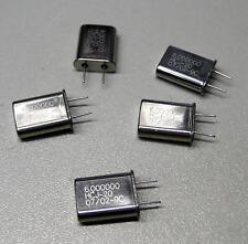 5 Stück 6.000000 (6 MHz) MHz Quarze  / Bauform HC-49/U (M8615)