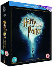 HARRY POTTER Complete 1-8 1 2 3 4 5 6 7 & 8 Film Collection Boxset NEW BLU-RAY