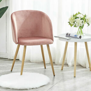 Pink Velvet Desk Chair with Arms Ergonomic Office Chair for Home Office Dressing