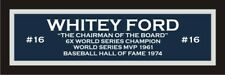 Whitey Ford color nameplate for signed autographed baseball photo jersey glove