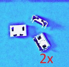 2x Ladebuchse MicroUSB für Tablet Navi, eBook 5 Pin Lenovo Medion Odys Acer SMD