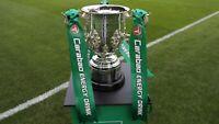 Manchester City v Tottenham Spurs Match Programme 2021 CARABAO LEAGUE CUP FINAL