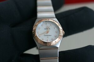 Omega Constellation Diamond Dial 18kt Red Gold & Steel 123.20.24.60.55.001 2020