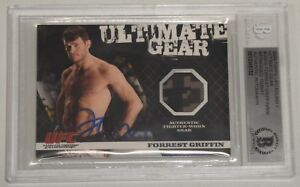 Forrest Griffin Signed 2009 Topps UFC Round 1 Ultimate Gear Relic Card BAS COA