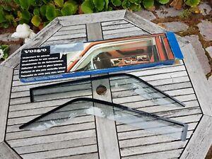 NOS Volvo 240 140 Side Window Wind Deflector Pair 4 and 5 door Volvo 1975-1993