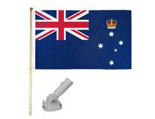 New listing 5' Wooden Flag Pole Kit W/ Nylon White Bracket 3x5 Victoria Australia Poly Flag