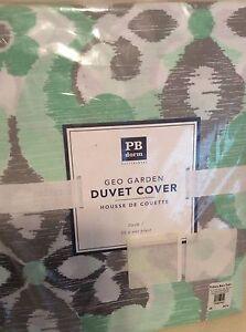 Pottery Barn Teen Geo Garden Twin Duvet Cover NWT Mint