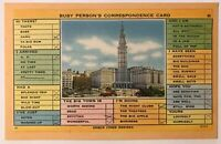 Cleveland, Ohio OH, Busy Person's Correspondence Card Postcard - January 1953