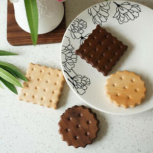 Home Kitchen Log Biscuit Square Placemat Insulated Wooden Pot Mat