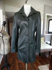 THE LEATHER RANCH DARK GREEN LEATHER COAT 1