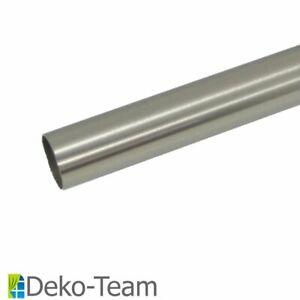 Gardinenstangen Rohr, 20 mm Durchmesser, verschieden Längen, Edelstahl Design