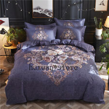 Palace Style Printed Bedding Set Soft Personal Comfortable Duvet Cover Bed Sheet