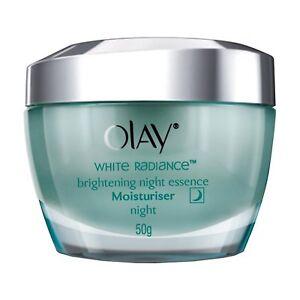 Olay White Radiance Advanced Whitening Night Essence Skin Cream Moisturizer, 50g